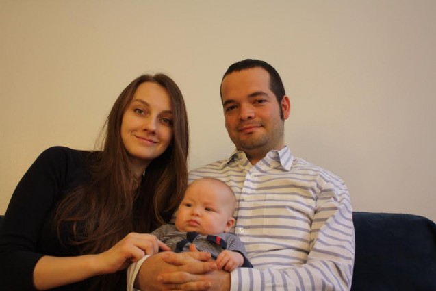 Alexander, Veranika e Tamar Ahava, álbum de familia em Nova York.