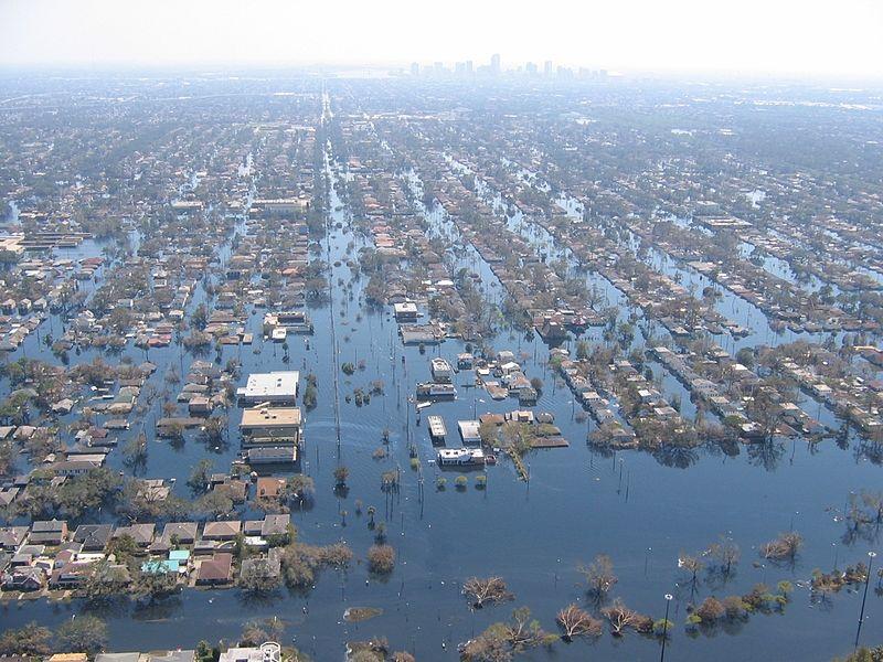 Nova Orleans após o furacão Katrina, em 2005