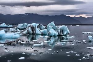 Glaciares antárticos derretendo em outubro de 2017