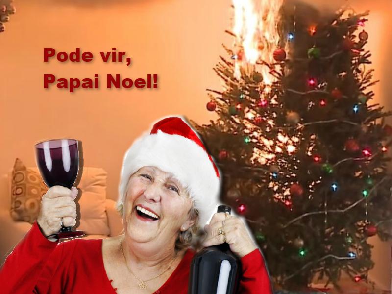 Ciência no elevador: Dona Claudine convida Papai Noel para Natal bem quente