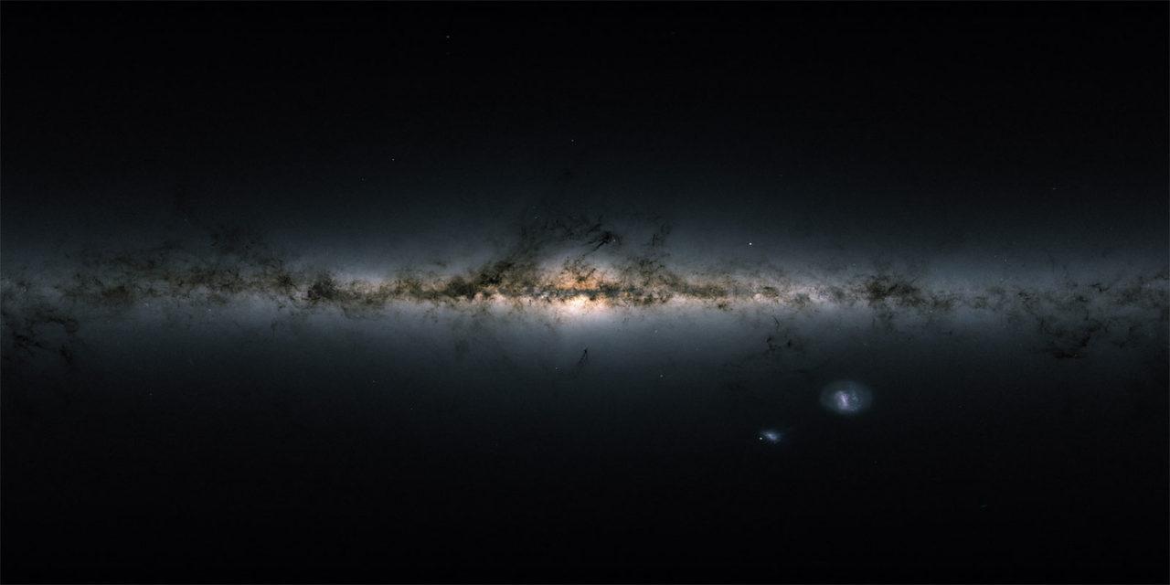 Gaia mapeia a Via Láctea: a galáxia é iluminada, colorida e 3D
