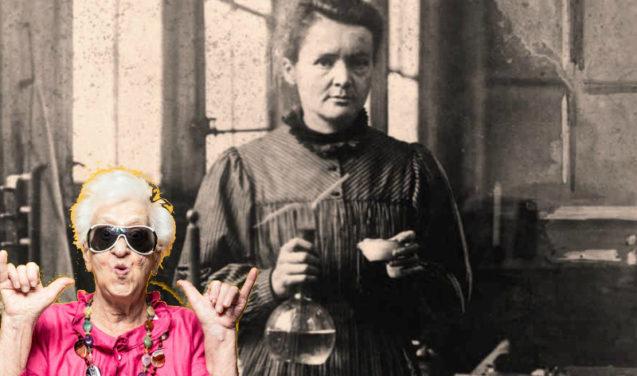Dona Claudine manda um salve para Marie Curie