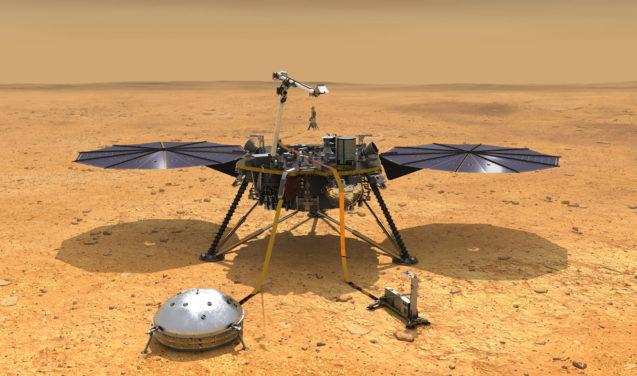 Nave InSight pousa em Marte